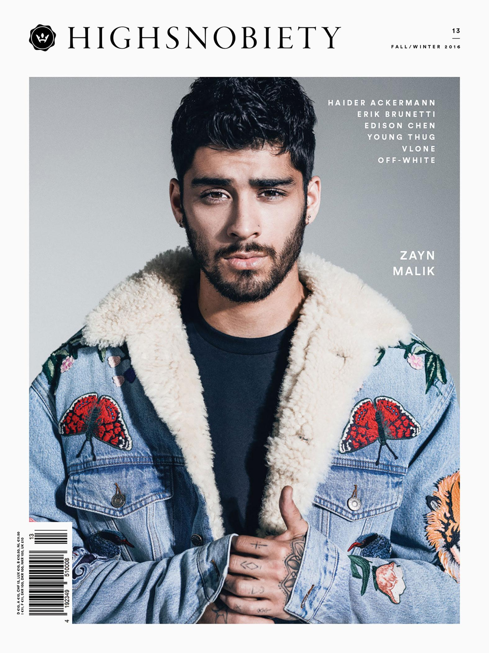 Zayn Malik for High Snobiety